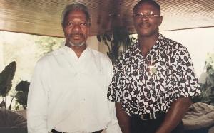 Kofi Annan With Sakyi Addo