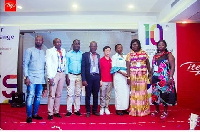 itel team in Ghana at the launch of the S32 and S12 phones