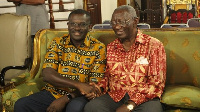 President of Ghana Medical Relief, Dr. Samuel Kwapong Owusu (L) with Former President Kufuor