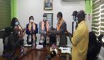 Henry Kwabena Kokofu being conferred a fellowship status