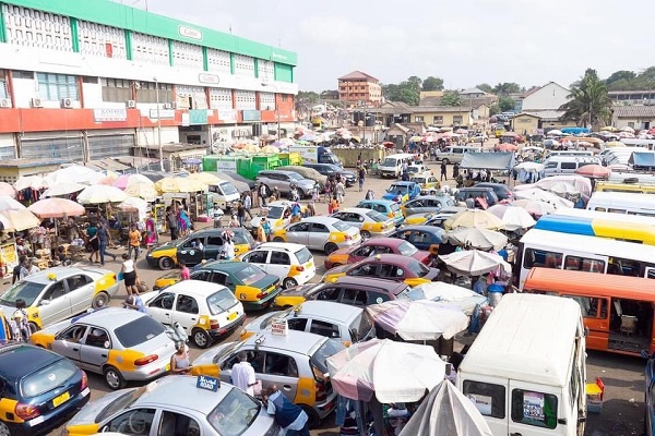 A photograph of the Kaneshie lorry park