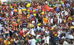 Accra Hearts of Oak fans at the stadium
