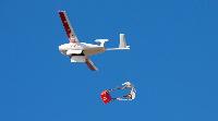 A drone transporting medicine