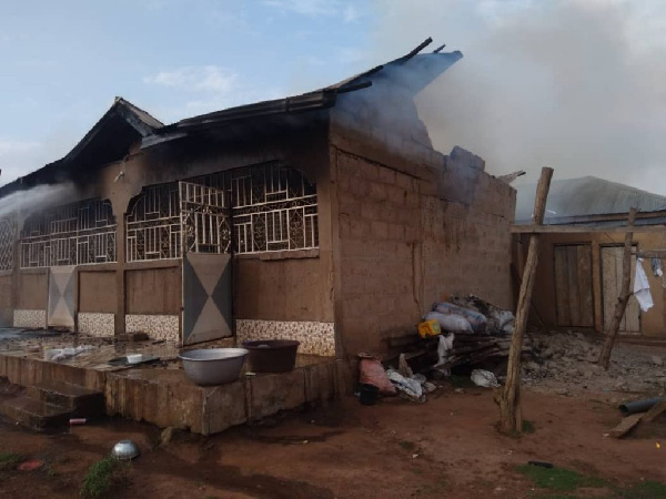 Fire guts 3-bedroom self-contained house in Wenchi. 49
