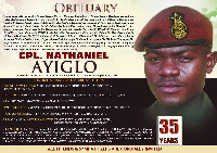 Corporal Nathaniel Ayiglo died at the 37 military hospital on the 16th day of September this year