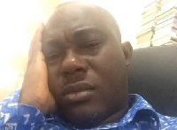 Dr Ransford Yaw Gyampo looks shattered after learning of Captain Maxwell Mahama's death