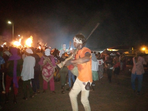 Hundreds of people joined in the celebration of the 2020 Fire festival