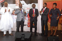 Mr. Samson Effah Apraku, Executive Chairman of Samara Group with some company officials