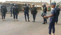 File photo: Some personnel of the Ghana Police Service