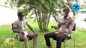 Francis Bigojah narrating his experience on #SayItLoud