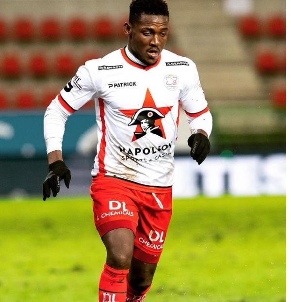 Daniel Opare reacts to Waregem defeat's to Leuven at home