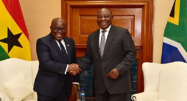 South Africa's President visits Ghana
