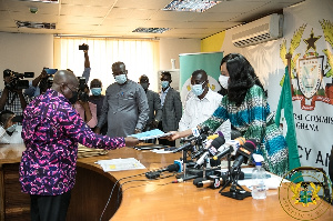President Akufo-Addo filing his nomination at the Electoral Commission