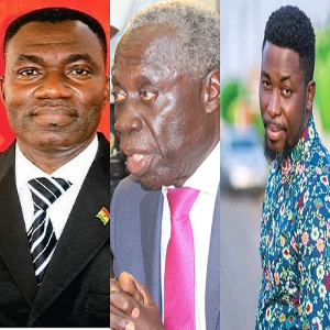 Former Deputy Agric Minister, William Quaitoo, Senior Minister, Yaw Osafo-Maafo and Kwame A-Plus