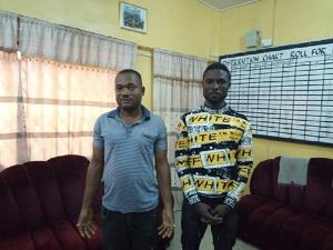 The ex-convict, Ifeanyi Chejioka was arrested alongside George Godsway