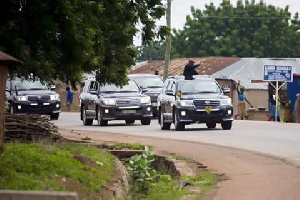 President John Dramani Mahama tours parts of the Northern region