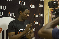 Founder of Uru, Mr Peters Ben interacting with the media