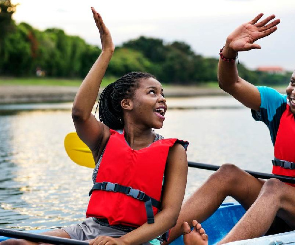 File Photo of a couple in a canoe