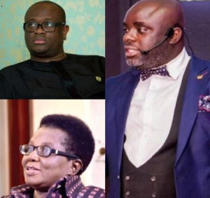 From top to right; Stan Dogbe, Elizabeth Ohene and Kojo Frimpong