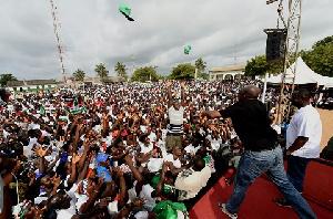 Vice President, Paa Kwesi Bekoe Amissah-Arthur on campaign tour