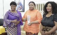 First Lady, Mrs Rebecca Akufo-Addo, receiving her award