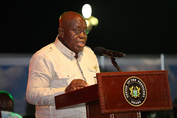 Akufo-Addo cuts sod for Tema sewer network and Ashiaman solid waste plant