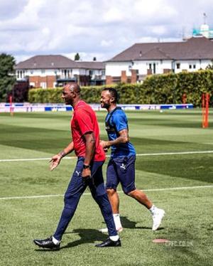 Jordan Ayew and new coach Patrice Vieira