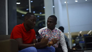 Arnold Asamoah with blogger, ZionFelix