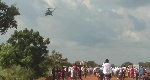 Weta residents wowed over Ghana Air Force helicopter display