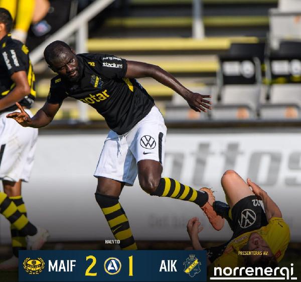Enoch Kofi Adu scores first goal of the season but AIK Stockholm lose on the road