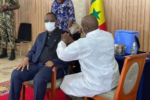 Macky Sall on Thursday took his coronavirus shot live on television