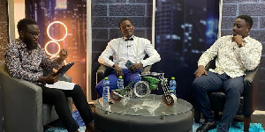 Eustace Akwei was speaking on the Men's Lounge show