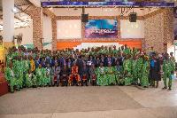 Rt Rev Dr Setorwu Kwadzo Ofori with Catechists for Ho Presbytery of Global Evangelical Church