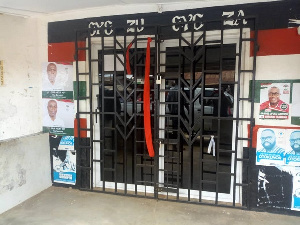The aggrieved party youth locked up the constituency office during their protest