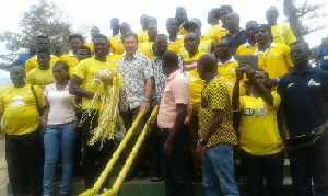 Medeama SC with the MTN FA trophy