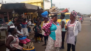 Some of these hawkers sell along the busy word that has become traffic prone