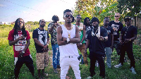 Shatta Wale and a number of his fans at Nima
