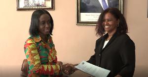 CEO of FDA, Delese Mimi Darko (L) and WFP Country Director to Ghana, Rukia Yacoub