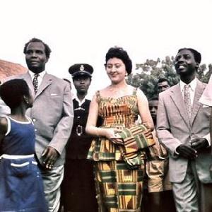 Fathia Nkrumah in her beautiful Kaba and Slit