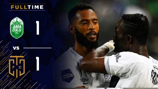 Prince Agyemang bags debut goal as Cape Town City share spoils with Amazulu