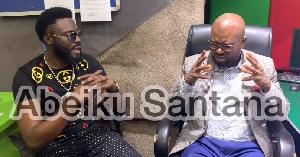 Ahkan speaking to Abeiku Santana