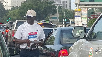 Ken Ofori-Atta on the streets of Accra campaigning for NPP