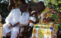 Otumfuo Osei Tutu II and Kojo Bonsu