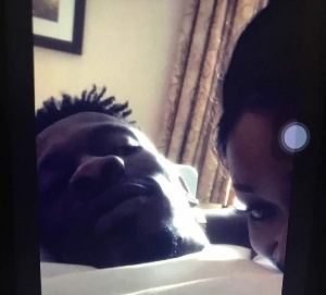 Shatta Wale allegedly in bed with Efia Odo