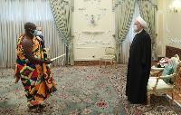 Ambassador Eric Owusu-Boateng presents credentials to Iranian president Hassan Rouhani