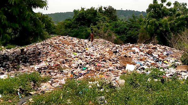 The refuse dump created by the residents is overrunning its territories