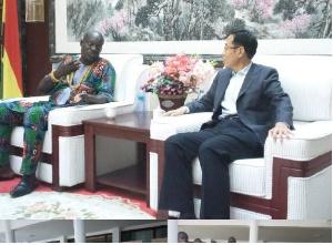 Chinese Ambassador, Shi Ting Wang, supports Osudoku Traditional Area