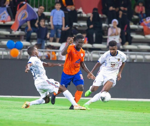 Owusu displayed his predatory movement and trickery as he tormented the defence of the visitors