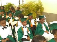 Some of the students at the graduation
