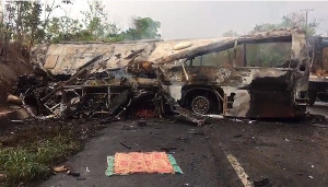 Over 55 persons perished in an accident at Kintampo